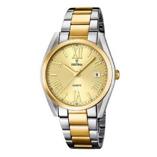 F16794/2 Festina Ladies Watch Two Tone Yellow Gold Plated Bracelet